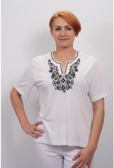 Sude Kadın Kagi Penye Bluz 2121