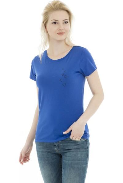 Jacqueline De Yong Jdychicago S/S Print Top 02 19 Jrs Kadın T Shirt 15172085