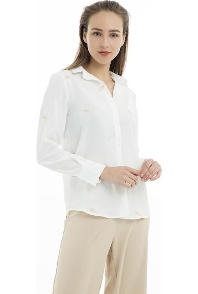 Quzu Gömlek Kadın Gömlek 23410844