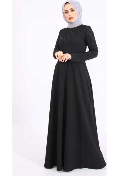 Laruj Abiye Elbise Siyah Laruj 60700010