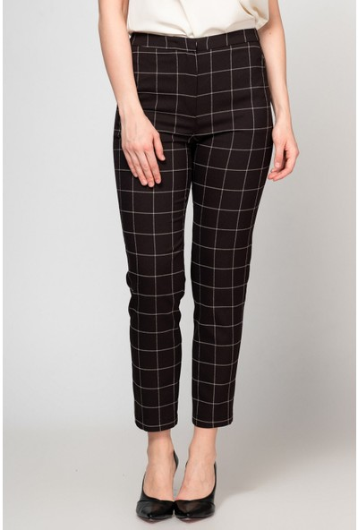 Fashion Light Siyah Kareli Pantolon FL0013