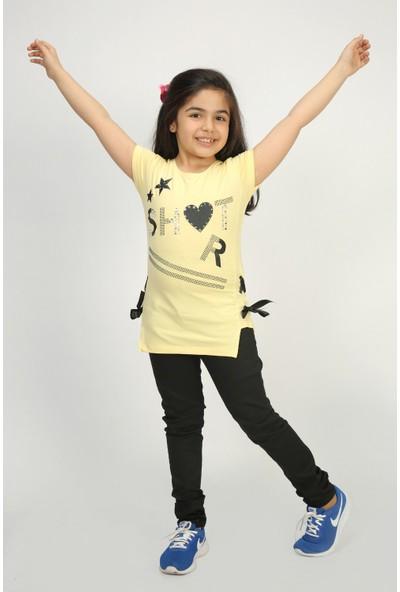 Toontoy Kız Çocuk T-Shirt Yandan Biyeli