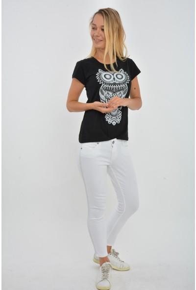 Rodin Hills Beyaz Şeritli Kot Pantolon 329