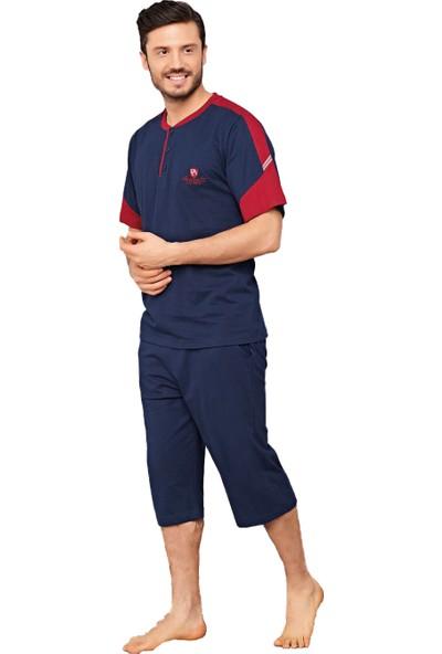 Çelebi 9418 Erkek Yazlık Patlı Kısakol Kapri Pijama Takım