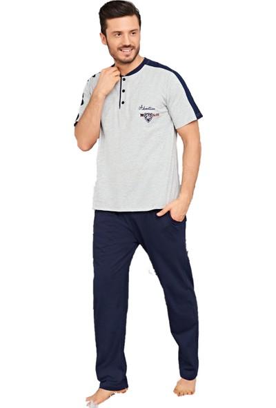 Çelebi 9439 Erkek Yazlık Patlı Kısakol Büyük Beden Pijama Takım