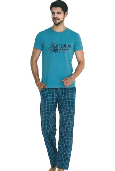Berland 3730 Erkek Yazlık Kısa Kol Pijama Takım