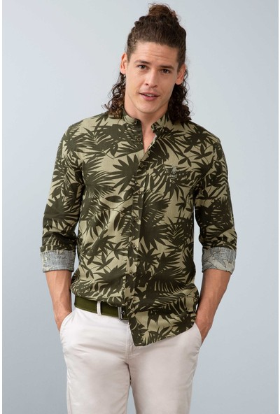 U.S. Polo Assn. Erkek Dokuma Gömlek 50202705-Vr027