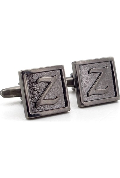 Solfera Baş Harf İsim Kol Düğmesi Çift Z Harfi Cx207