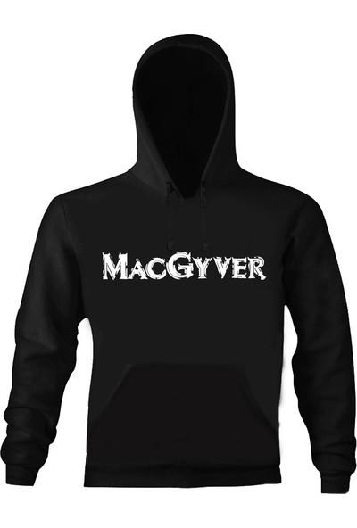 Art T-Shirt Macgyver Unisex Kapüşonlu Sweatshirt