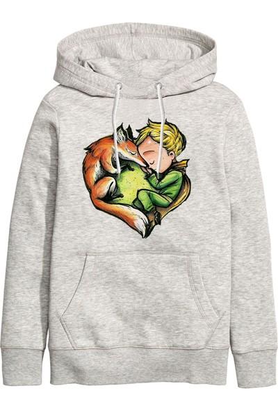 Art T-Shirt Küçük Prens Ve Tilki Unisex Kapüşonlu Sweatshirt