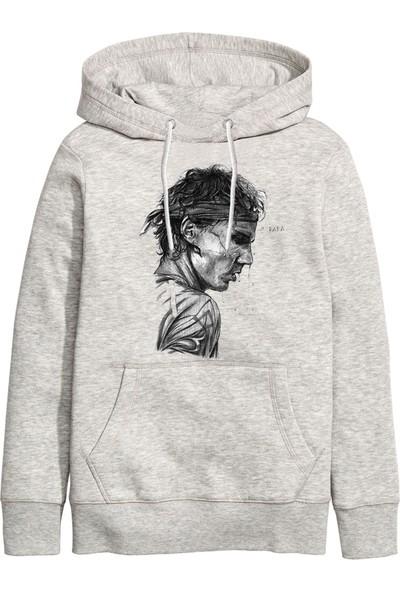 Art T-Shirt Rafael Nadal Unisex Kapüşonlu Sweatshirt