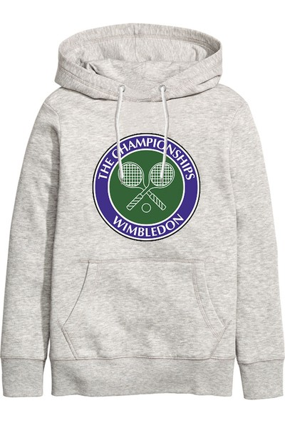 Art T-Shirt Wimbledon Tennis Unisex Kapüşonlu Sweatshirt