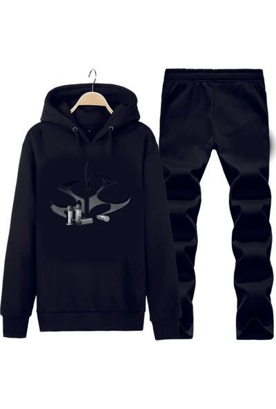 Art T-Shirt Hitman Symbol Kapüşonlu Eşofman Takımı