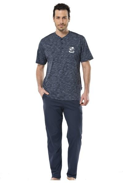 Türen Erkek 4119 İnkjet Patlı Kısa Kol Pijama Takımı