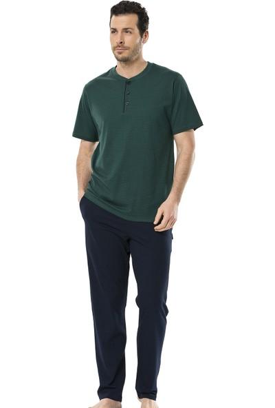 Türen Erkek 4123 Empirme Patlı Kısa Kol Pijama Takımı