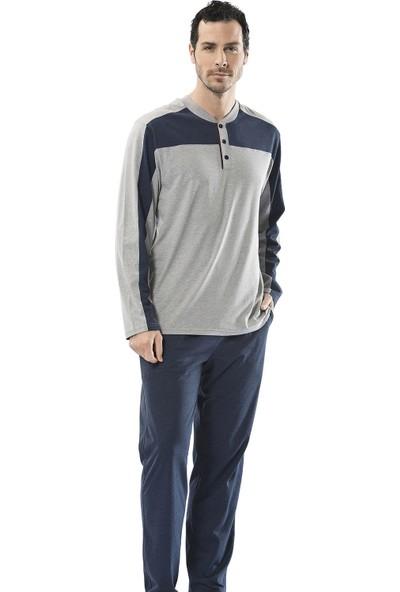 Türen Erkek 4110 Parçalı Uzun Kollu Pijama Takımı