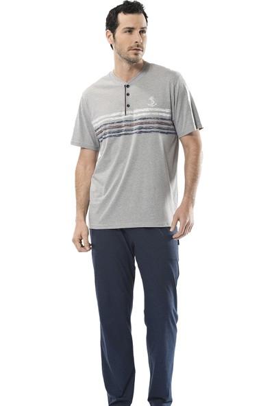 Türen Erkek 4112 Baskılı Kısa Kollu Pijama Takımı