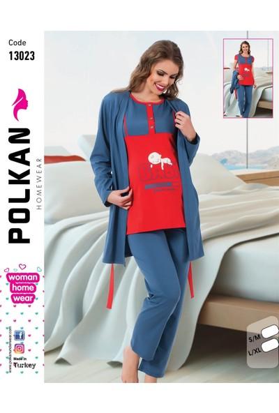 Polkan Kadın 3'Lü Hamile Pijama Takımı