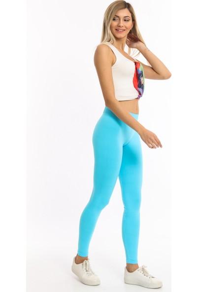 Bianco Lucci Neon Renk Dikişsiz Toparlayıcı Tayt Fitness