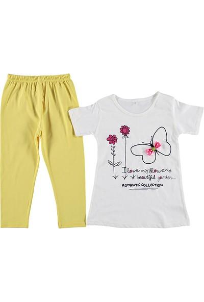 Kidsmadamiko Taytlı Kelebekli Kız Çocuk Takım
