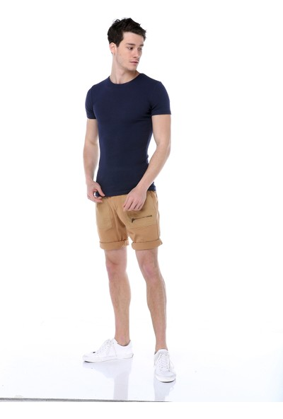 Markalook Erkek Bis Yaka Body T-Shirt