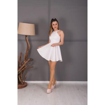 e9540b548a523 Barevsu Scuba Kumaş Mini Kadın Abiye Elbise 39 Fiyatı