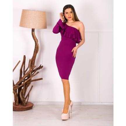 3c20aa8e102e8 Barevsu Scuba Kumaş Volanlı Kadın Abiye Elbise 521 Fiyatı