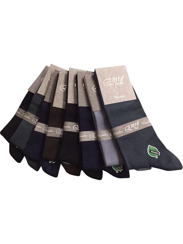 Emre 8 Li Emre %100 Bambu Erkek Çorap