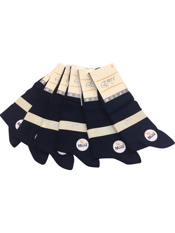 Emre 6 Lı Siyah Ince Yazlık Erkek Çorap Dikişsiz