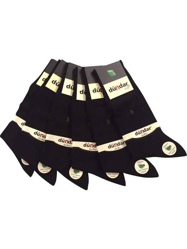 Dündar 6 Lı Siyah Ince Yazlık Bambu Erkek Çorap