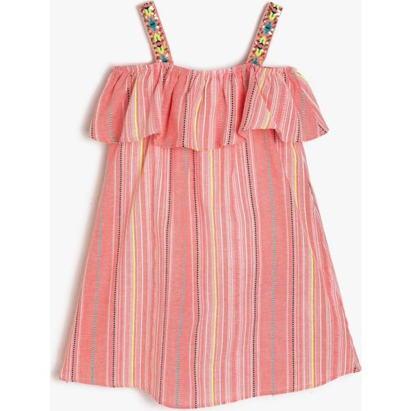 09bf6d0bc7035 Koton İşlemeli Elbise - 6 - 7 Yaş - Kırmızı Fiyatları, Özellikleri ...