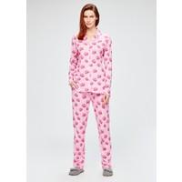 Dagi Kadın Pijama Takımı Fuşya Pembe
