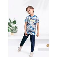 Arnetta Santa Monica Krem-Mavi Erkek Çocuk Pijama Takımı