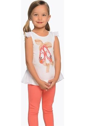 Mayoral Yazlık Kız Çocuk Bluz Denim Pantolon 2'li Set