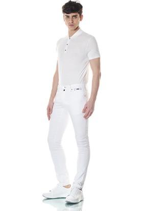 Giovane Gentile Erkek Pantolon Denim Beyaz