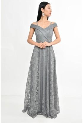 598f3ef1f0f6f Gri Abiye Elbise Modelleri ve Fiyatları & Satın Al