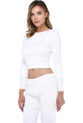 Tantrona Crop Top Bluz Capri Pantolonlu Takım