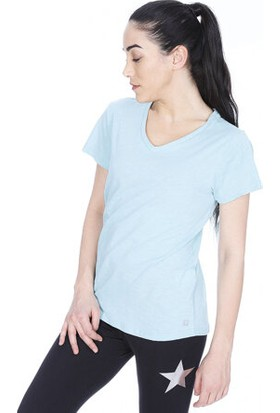 Sportive 710180-Brn Spo-Flakestop Kadin T-Shirt Mavi