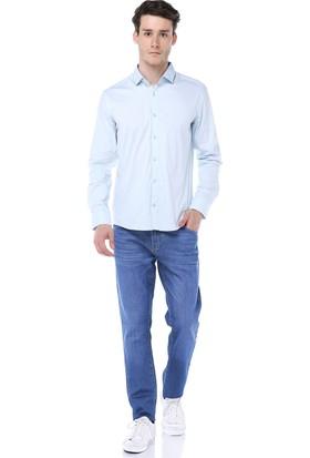 2b2bca4b13f10 ... Manche Mavi Takma Patlı Pensli Premium Gömlek Me19S110009 ...