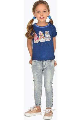 Mayoral Kız Çocuk Kot Pantolon Dar Kalıp 075 Açık Kot Rengi