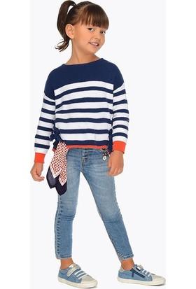 Mayoral Kız Çocuk Dar Kalıp Kot Pantolon Ve Bandana 3501