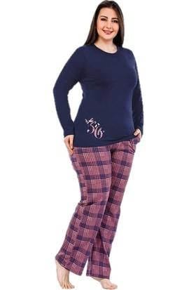 Berland 3092 Kadın Modal Uzun Kol Battal Pijama Takım
