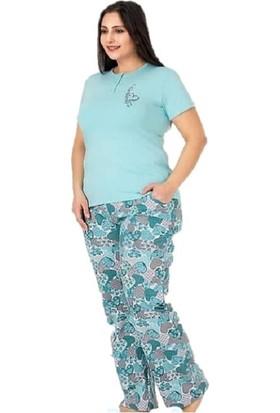 Berland 3145 Kadın Modal Kisa Kol Battal Pijama Takım