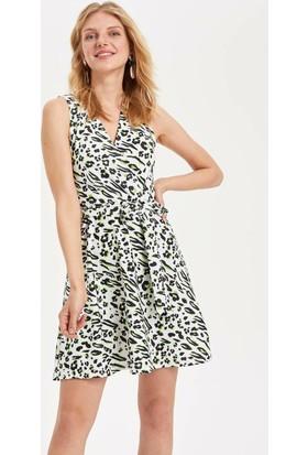 3df5862bc97d1 Defacto Kadın Leopar Desenli Slim Fit Elbise ...