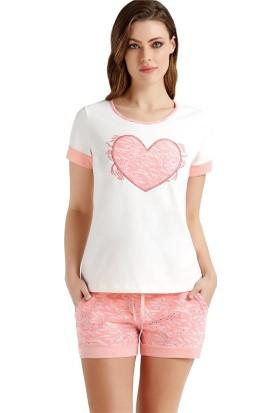 Baykar 9401 Kadın Kısa Kollu Şort Pijama Takım