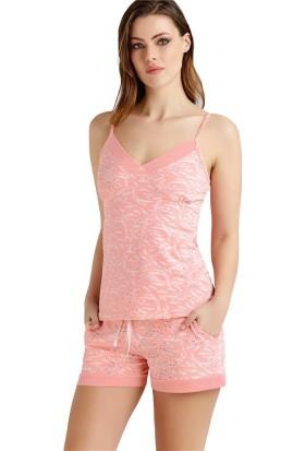 Baykar 9402 Kadın İnce Askılı Şort Pijama Takım