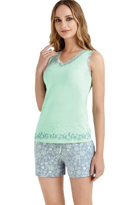 Baykar 9415 Kadın Geniş Askılı Şort Pijama Takım