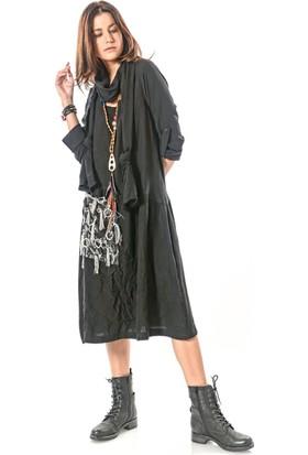 39be1b808fb9a ... Etnik Esintiler Kadın Helin El İşi Uzun Elbise Siyah ...