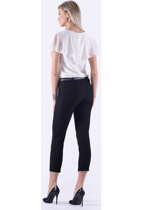 İroni Dar Paça Siyah Kumaş Pantolon - 1581-891K Siyah