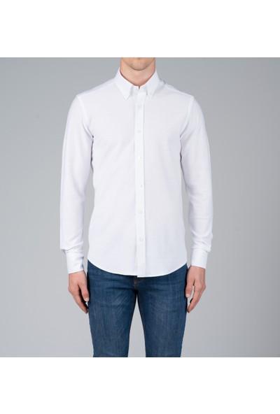 Giovane Gentile Erkek Gömlek Beyaz